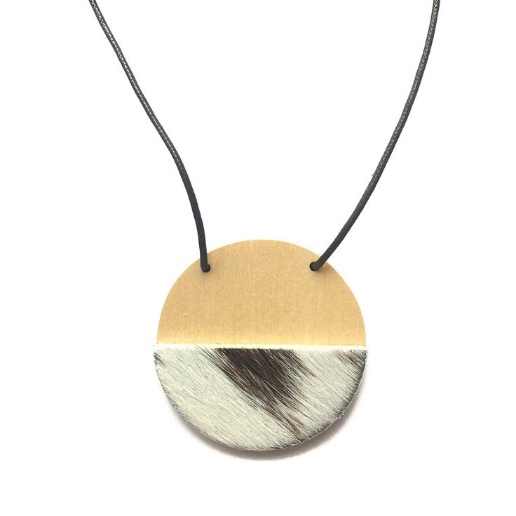 Amindy - Handmade cowhide necklace - $35 - Shop online at www.amindy.com.au
