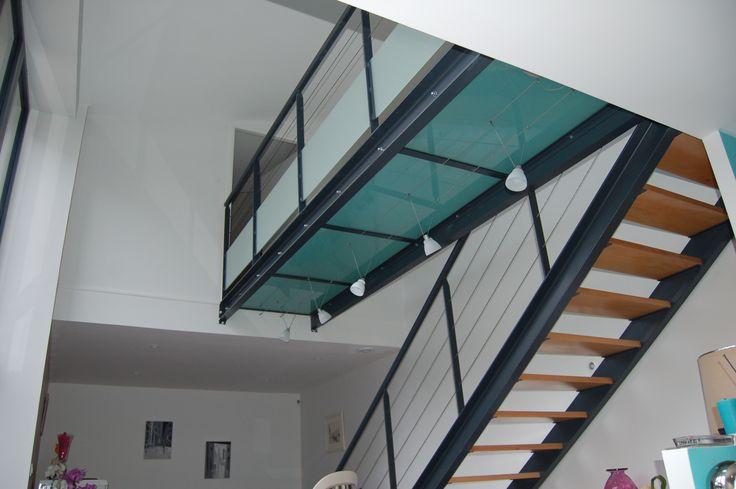 Escalier métal et verre Projet Optiréno