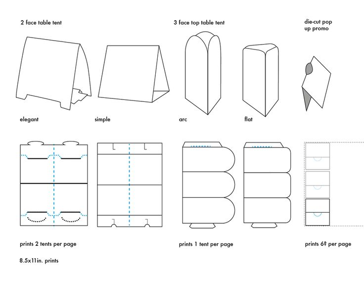Table Tents Template Types By Carrensoriano On Deviantart
