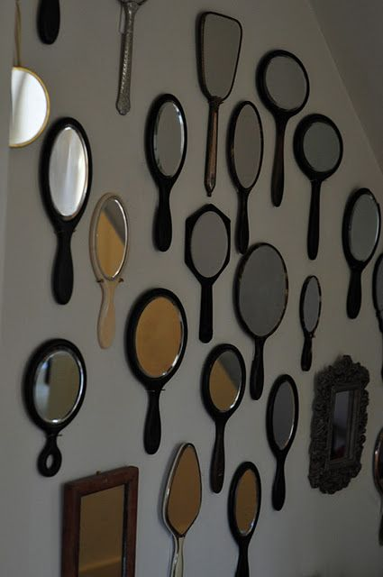 Hand held Mirrors neat idea for a salon