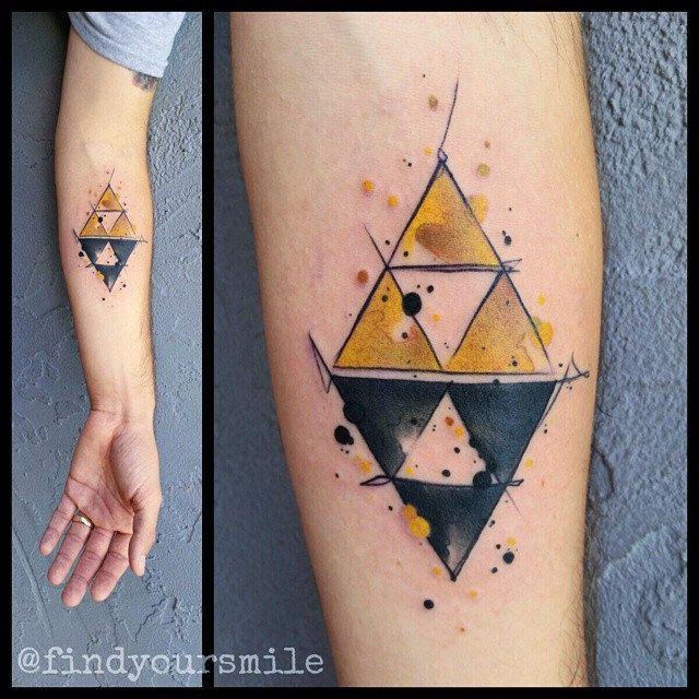 353 best tatuajes images on pinterest zelda tatoos and for Triforce hand tattoo