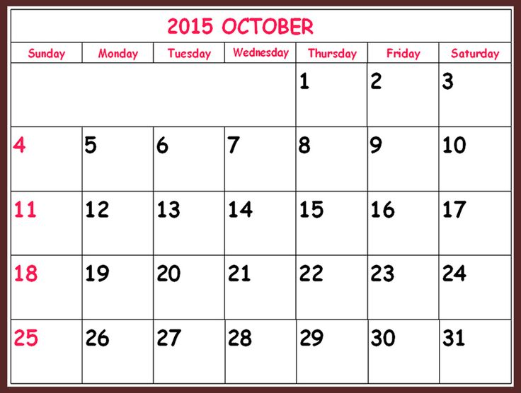 Free Download Oct 2015 Calendar Template Pictures, Images, Templates, Holidays, Events, Usa, Uk, America, Nz, Australia, Canada, Blank Pages, Festivals