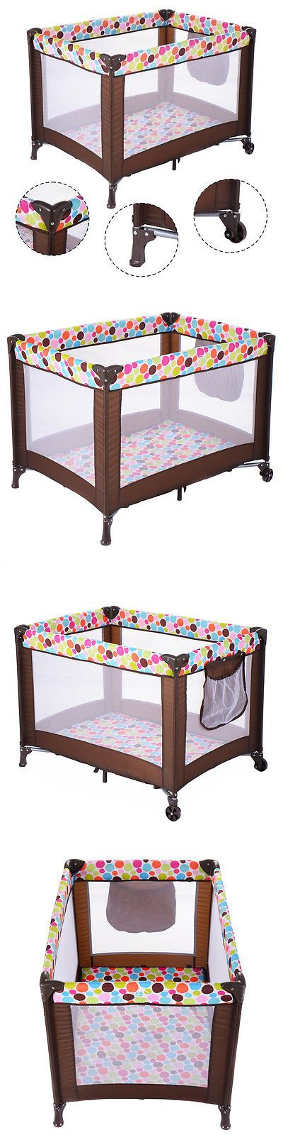 Baby Gear 100223: Playard Baby Crib Bassinet Travel Portable Bed Playpen Infant Toddler Foldable -> BUY IT NOW ONLY: $42.99 on eBay!