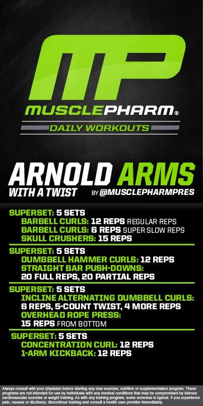 12 best Superset images on Pinterest Exercise routines, Chest - fresh arnold blueprint day 19