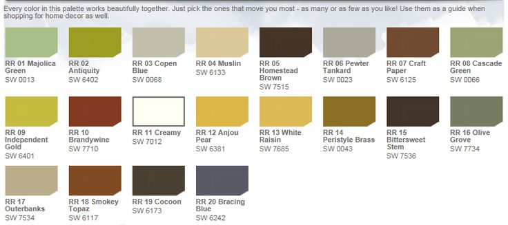 HGTV Home Paints by Sherwin Williams: Rustic Refined - Ever wanted to live in a Tuscan villa or ranch set in the heart of the Arizona desert? Create that feeling by choosing a down-to-earth palette inspired by sunbaked adobe, Italian stucco and sandstone.