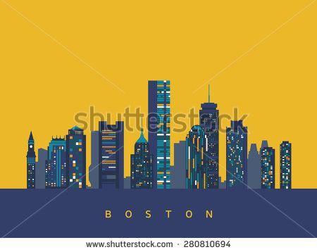 Boston abstract skyline