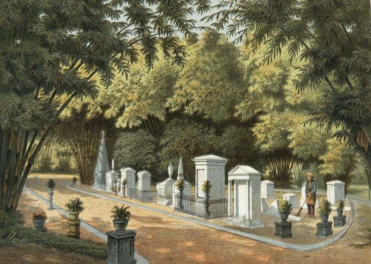 Josias Cornelis Rappard - Pemakaman yang terletak di Kebun Raya Bogor