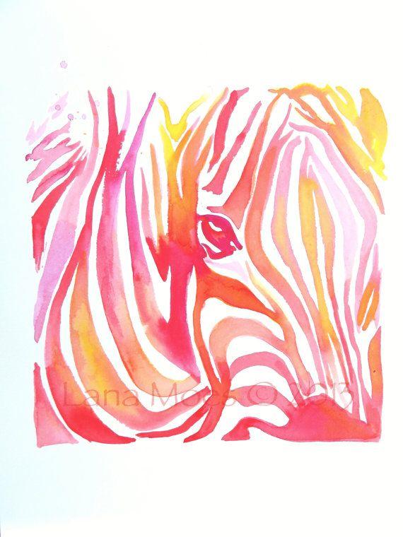 Abstract+Coral+Pink+Original+Watercolor+Painting++by+LanasArt,+$55.00