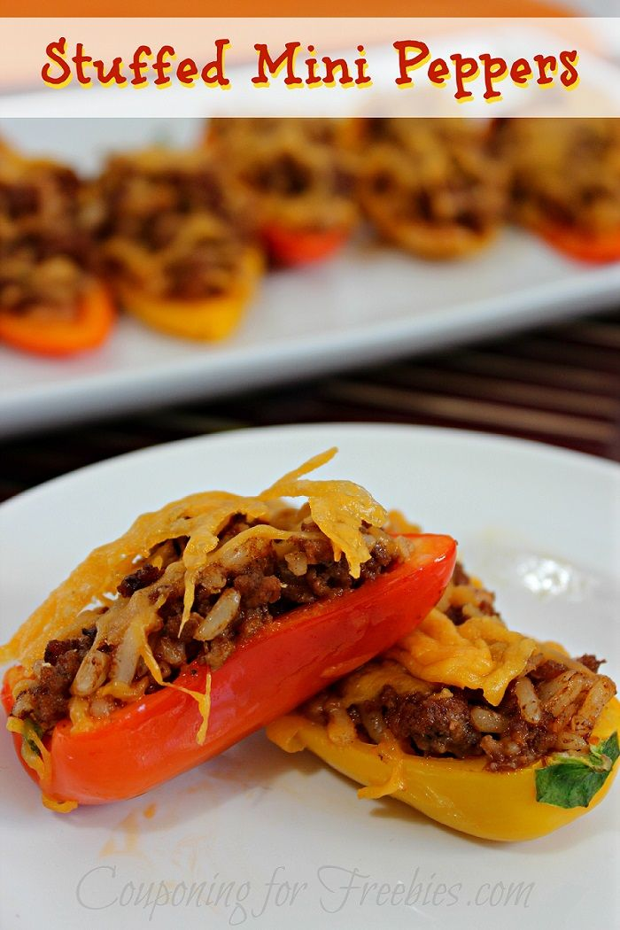 Recipe For Stuffed Pepper Minis - http://couponingforfreebies.com/recipe-stuffed-mini-peppers/