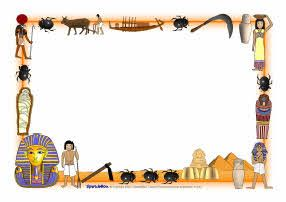 Ancient Egypt A4 Page Borders