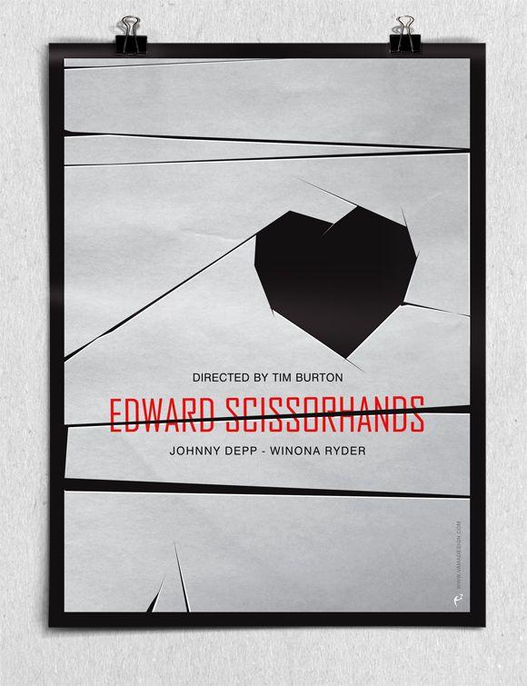 Edward Scissorhands Minimalist Movie Poster