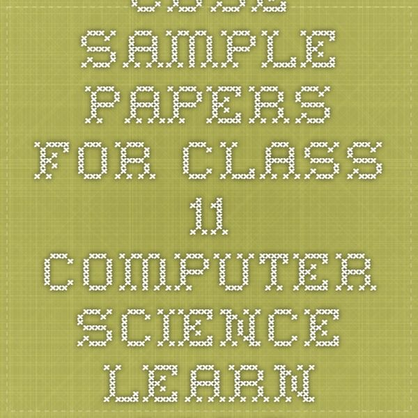 Sample question papers   cbse