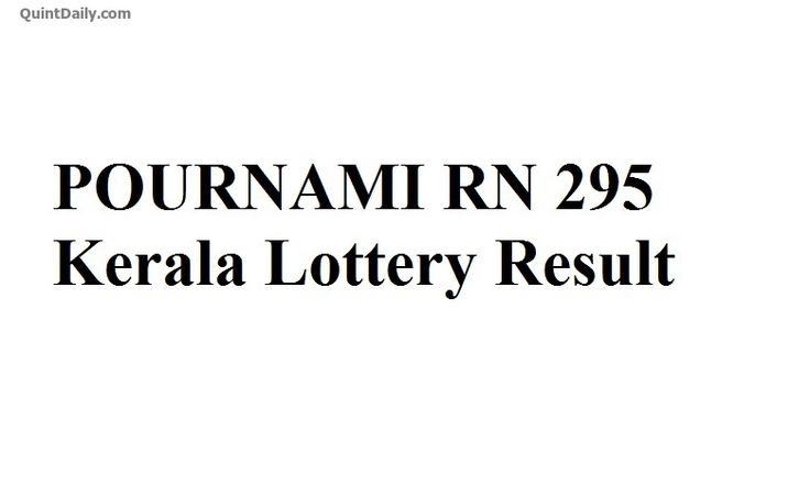 POURNAMI RN 295 Kerala Lottery Result Today-POURNAMI RN 295 Lottery Result-Kerala Lottery Result-POURNAMI RN 295-POURNAMI RN 295 Kerala Lottery Result.