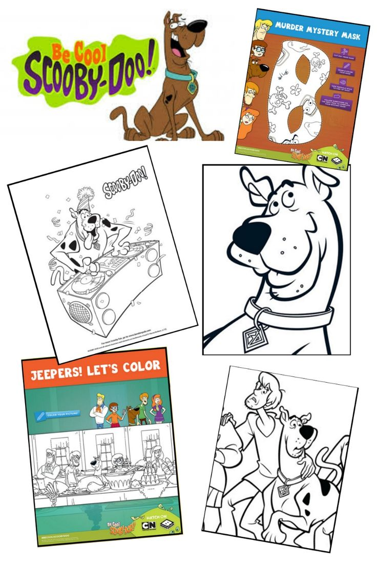 Be cool with Scooby-Doo Kids Colouring Pages.  Join Scooby and the gang from Mystery Inc with these fab free Scooby Doo colouring pages.