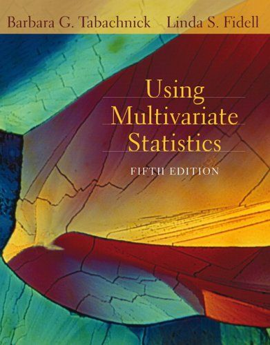 Bestseller Books Online Using Multivariate Statistics (5th Edition) Barbara G. Tabachnick, Linda S. Fidell $128.57