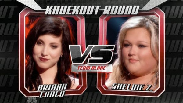 """Briana Cuoco sang """"Don't Speak"""" by No Doubt and Shelbie Z. by Carrie Underwood sang """"Last Name"""" on The Voice USA Season 5 'Knockout Rounds' for Team Blake Shelton. Judges: Christina Aguilera: Briana, there were some pitch problems. Shelbie, that was the most confident performance in the Knockouts. Ceelo Green: Briana, I think you sounded […]"""