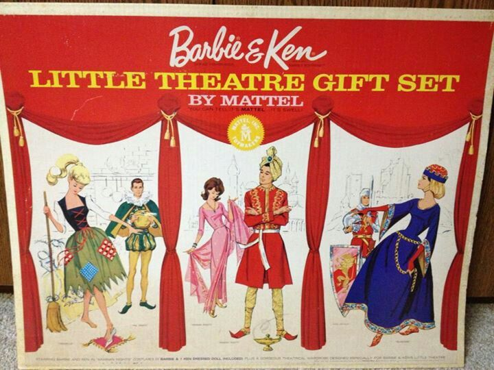Quot little theater giftset vintage barbie family