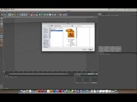 01 Cinema 4D Modeling with Illustrator Files - YouTube