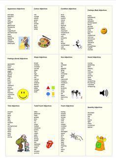 adjectives list - English                                                       …
