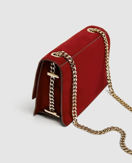 b092bcc8657 Image 3 of SUEDE CROSSBODY BAG WITH GOLD CHAIN from Zara | Closet ...