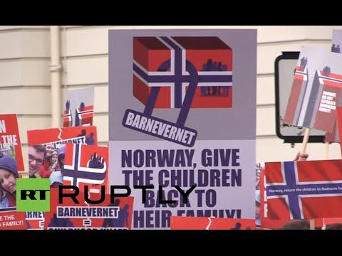 UK: Hundreds protest Norway's 'theft' of children in London