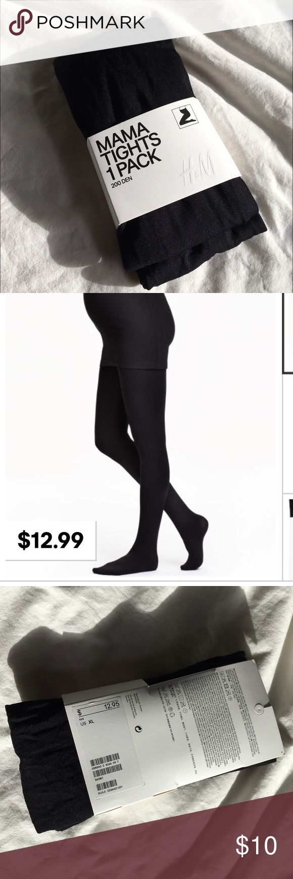 Great tights for over bump from H&M    NWT H&M Mama Black Tights - Maternity New with tags because I missed the return window. These 200 denier black tights will be great with dresses and tunics through the winter. Black H&M maternity tights. H&M Accessories Hosiery & Socks