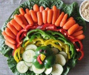 Vegetales con dip en forma pavo para thanksgiving. http://www.saborcontinental.com/2013/11/vegetales-con-dip-en-forma-pavo-para-thanksgiving/