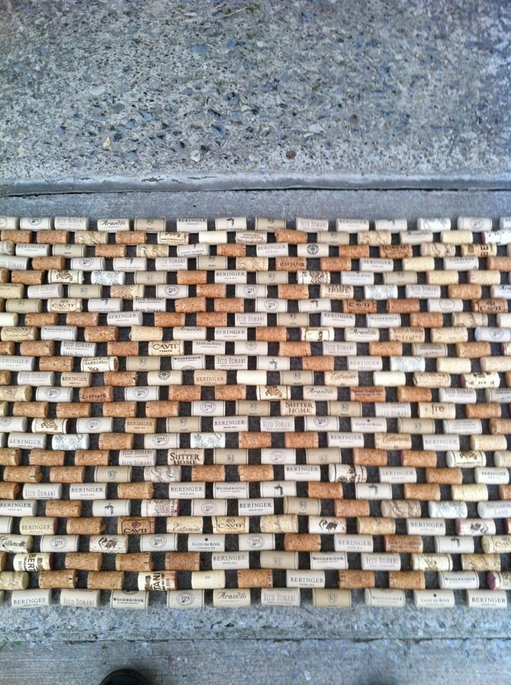 26 best images about look what i made on pinterest for Wine cork welcome mat