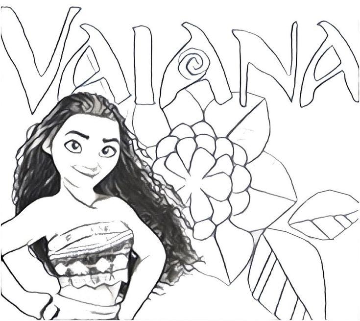 Ausmalbilder Disney Vaiana