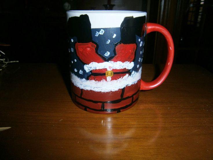 "Lia B. Creations: ""Stuck in the chimney"" mug"