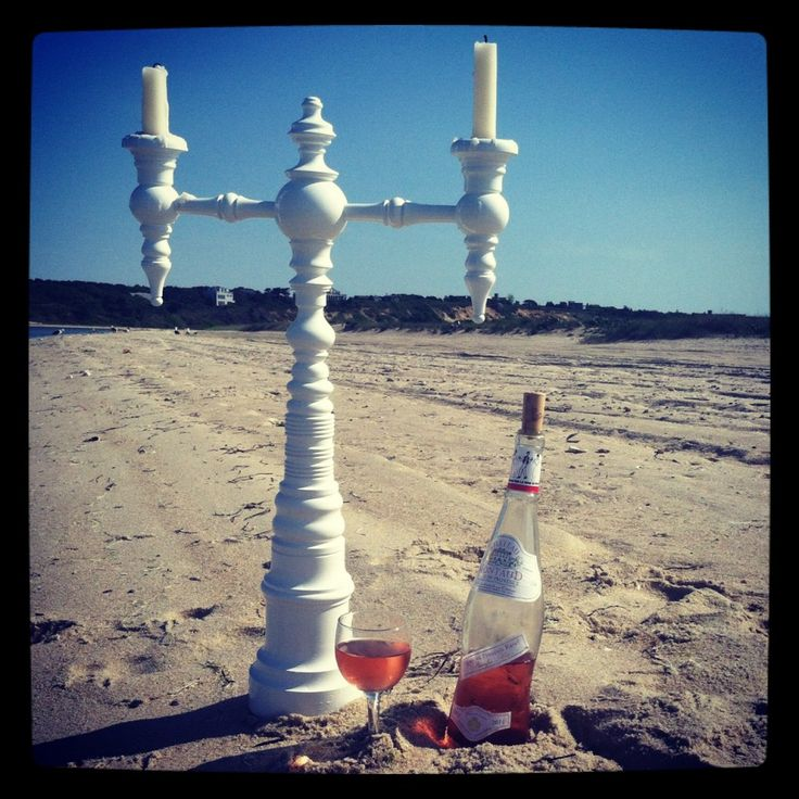 Beach, Candelabra, Rose. Dunes And Duchess Style.