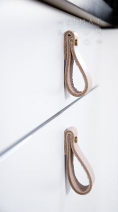Schubladengriffe aus Leder {DIY} - HEIMATBAUM