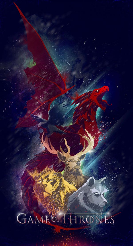 Game of Thrones Sigils on Behance | Targaryn, Baratheon, Lannister, Stark, Arryn