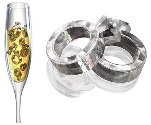 Diamond Rings Ice Cube Tray Silicon Mold -- Only $14.99 ** Free Shipping -- www.GadgetPlus.ca