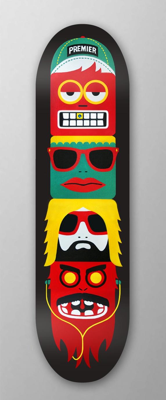 Premier: Skateboard Totem