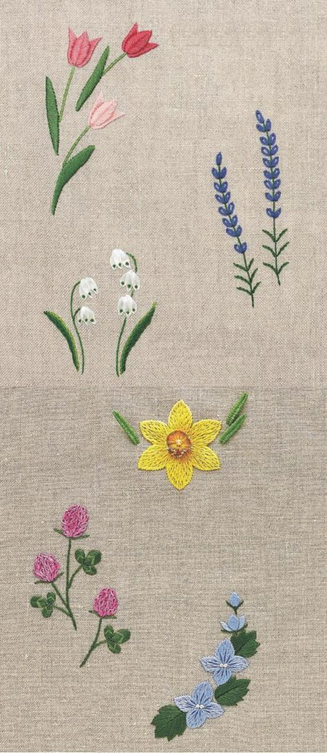 Flower bouquet embroidery