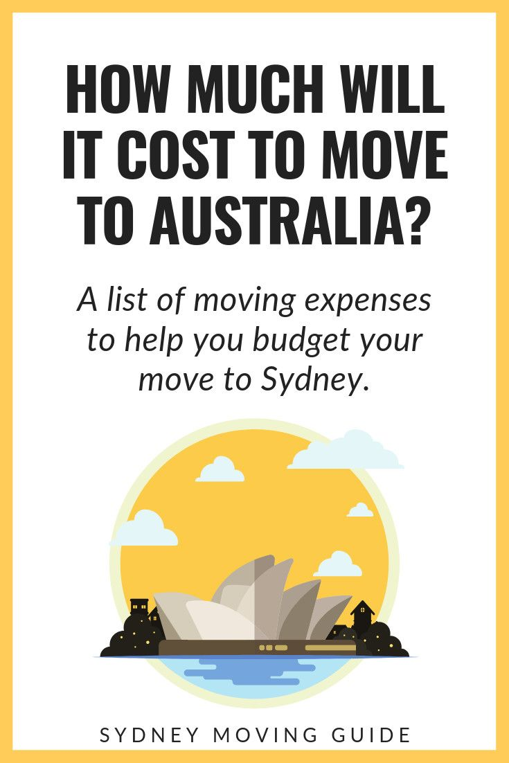 How much does it cost to move to australia sydney