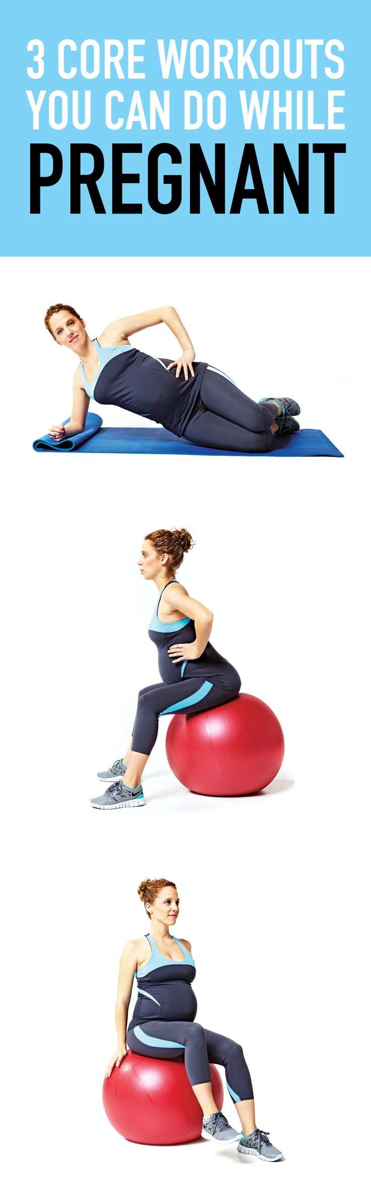 This fabulous pregnancy workout will get you toning your core muscle group and shoulders! #pregnancy #pregnancyfitness #pregnancyworkout