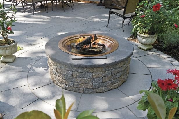 A Patio /like this w/ the metal fire bowl, when wanting to use wood, & not the gas