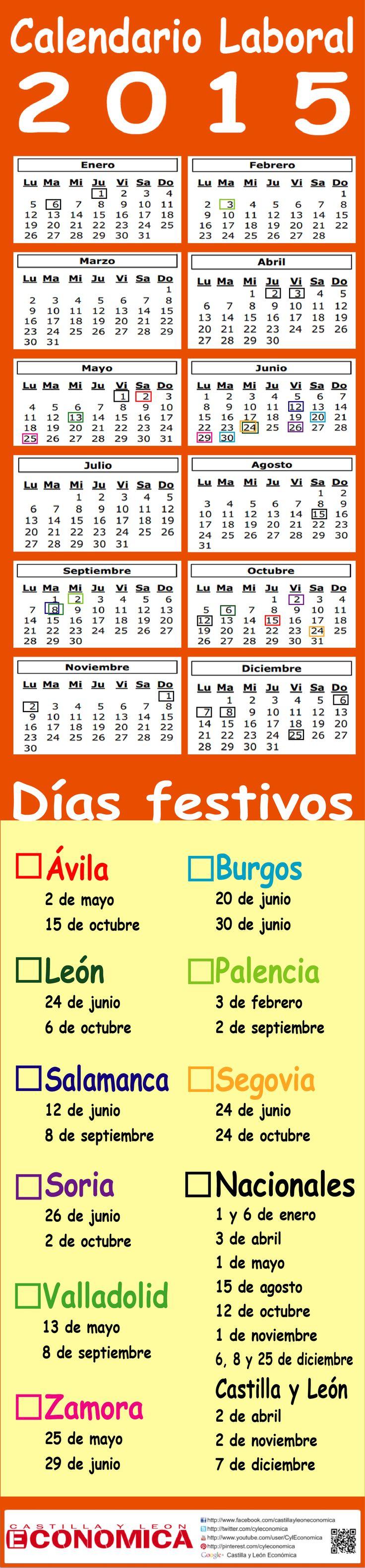 Calendario laboral en Castilla y León 2015