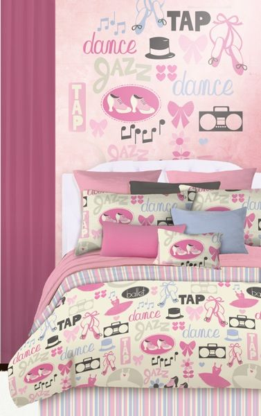 Modern Girl Ballet Dancer Bedding Set Ballerina Full Comforter Bed In A Bag