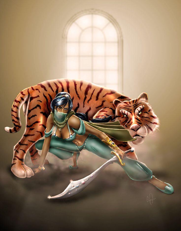 Fearsom Warrior Jasmine.  Part of the Defenders of the Enchanted Kingdom series via http://steevinlove.deviantart.com/gallery/23384510