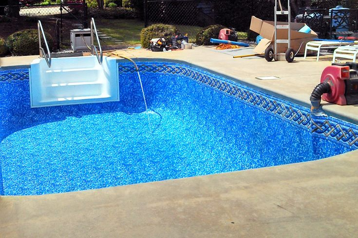 69 best in ground pool liners images on pinterest above for Pool liner installation