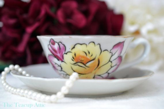 ON SALE Lovely Vintage Shafford teacup and by TheTeacupAttic