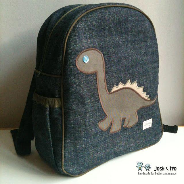 Meu Handmade Home: Mochila dinossauro para o primeiro dia do J do jardim de infância júnior
