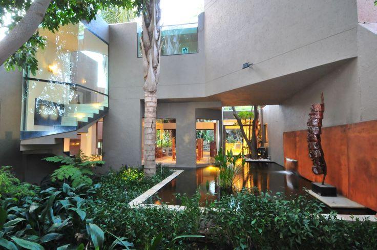 House Fern | Atriums | Nico van der Meulen Architects | M Square Lifestyle Design | #Atrium #Spring #waterfeature #outdoors #Design #Architecture #Landscaping