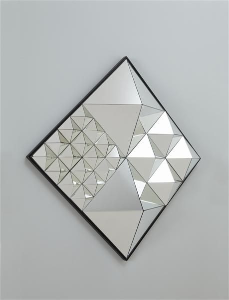 A Diamond Mirror sculpture by Verner Panton.