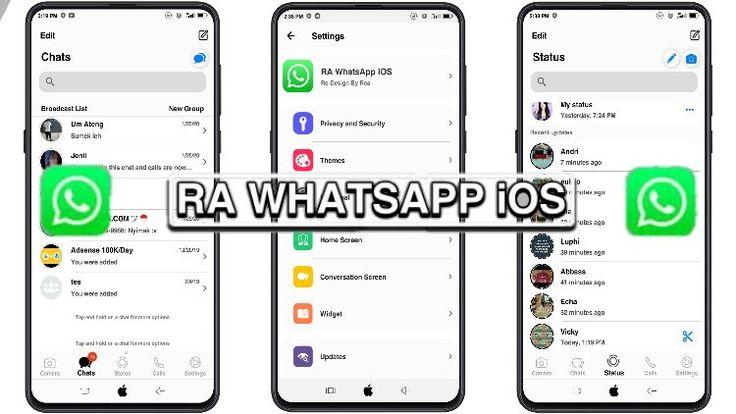 RA Whatsapp iOS 8.25 di 2020 Aplikasi, Desain app, Iphone