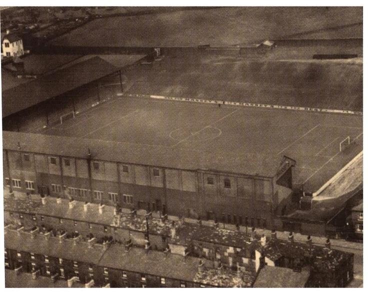 """Estadio """"TURF MOOR"""" 1920, casa del BURNLEY FOOTBALL CLUB."""