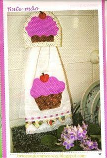 Amor-Perfeito-Amor: Bate-mão cupcake